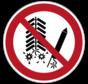 Ontsteken van vuurwerk verboden pictogram
