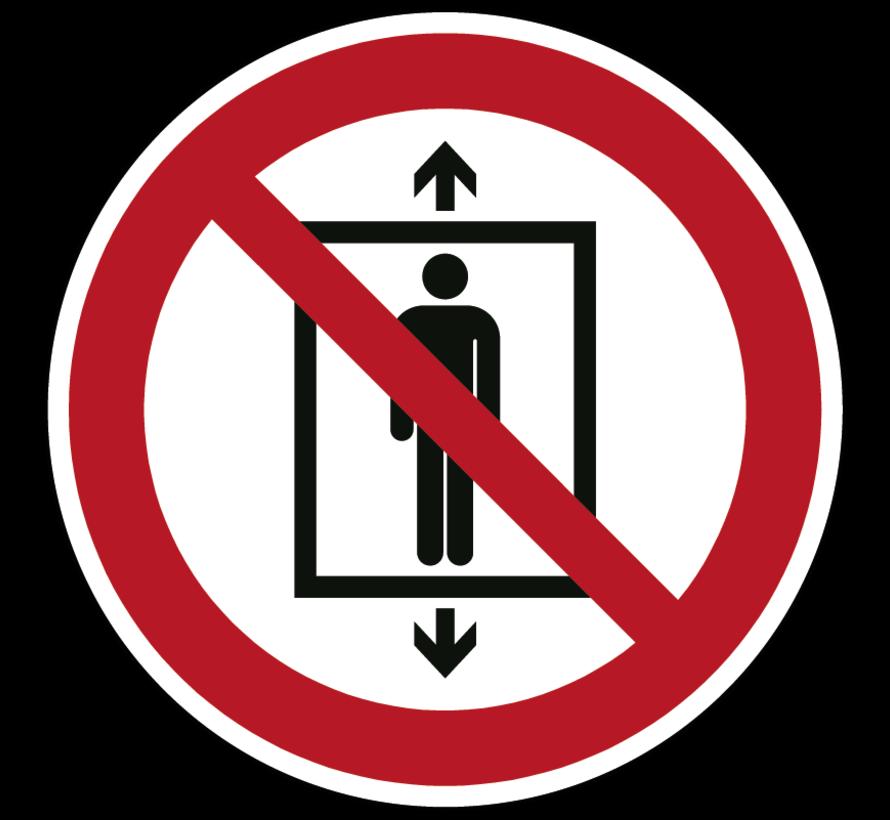 Personenvervoer verboden pictogram