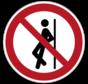 Tegenaan leunen verboden pictogram