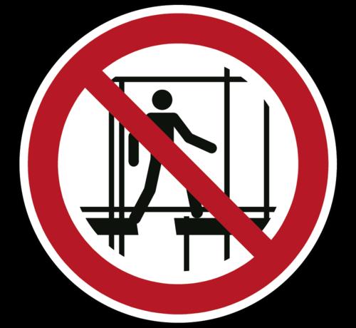 ARBO centrum Verboden een onafgewerkte stelling te gebruiken pictogram