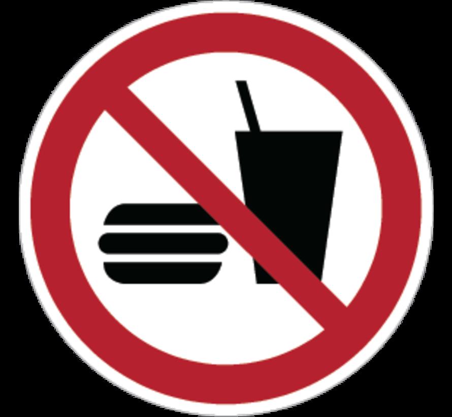 Eten en drinken verboden pictogram