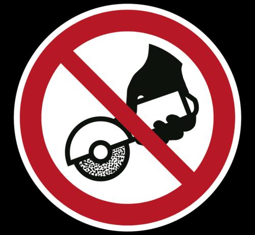 ARBO centrum Verboden met de hand te slijpen pictogram