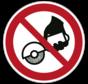 Verboden met de hand te slijpen pictogram
