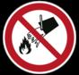 Verboden met water te blussen pictogram