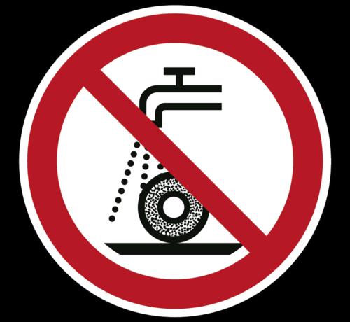 ARBO centrum Verboden nat te slijpen pictogram