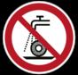 Verboden nat te slijpen pictogram