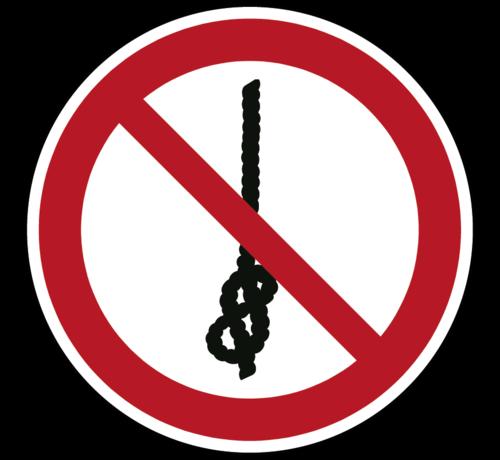 ARBO centrum Verboden om knopen te maken pictogram