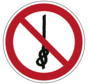 Verboden om knopen te maken pictogram