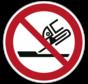 Verboden slijpschijf te gebruiken pictogram