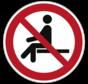 Verboden te zitten pictogram