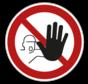 Verboden toegang voor onbevoegden pictogram