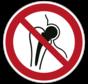 Verboden voor personen met metalen implantaat pictogram