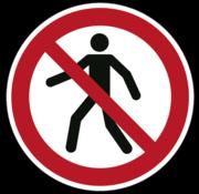Verboden voor voetgangers