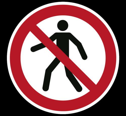 ARBO centrum Verboden voor voetgangers pictogram