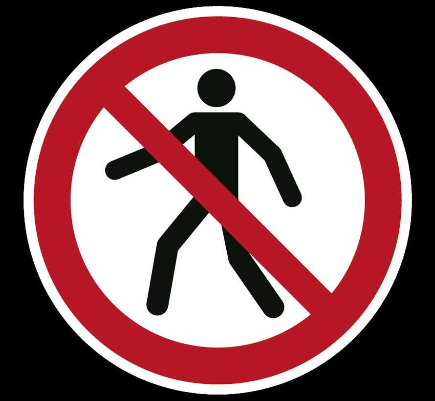 Verboden voor voetgangers pictogram