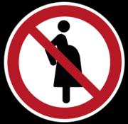 Verboden voor zwangere vrouwen