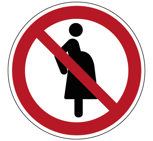 ARBO centrum Verboden voor zwangere vrouwen pictogram