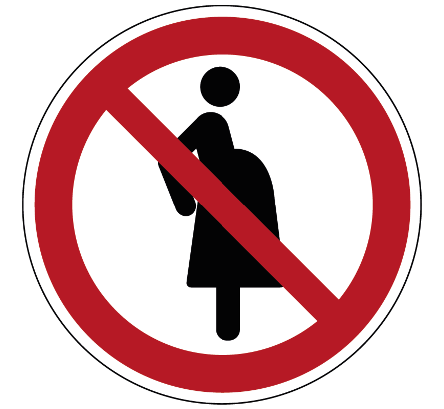 Verboden voor zwangere vrouwen pictogram