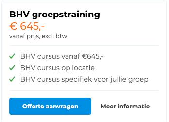 BHV groepstraining