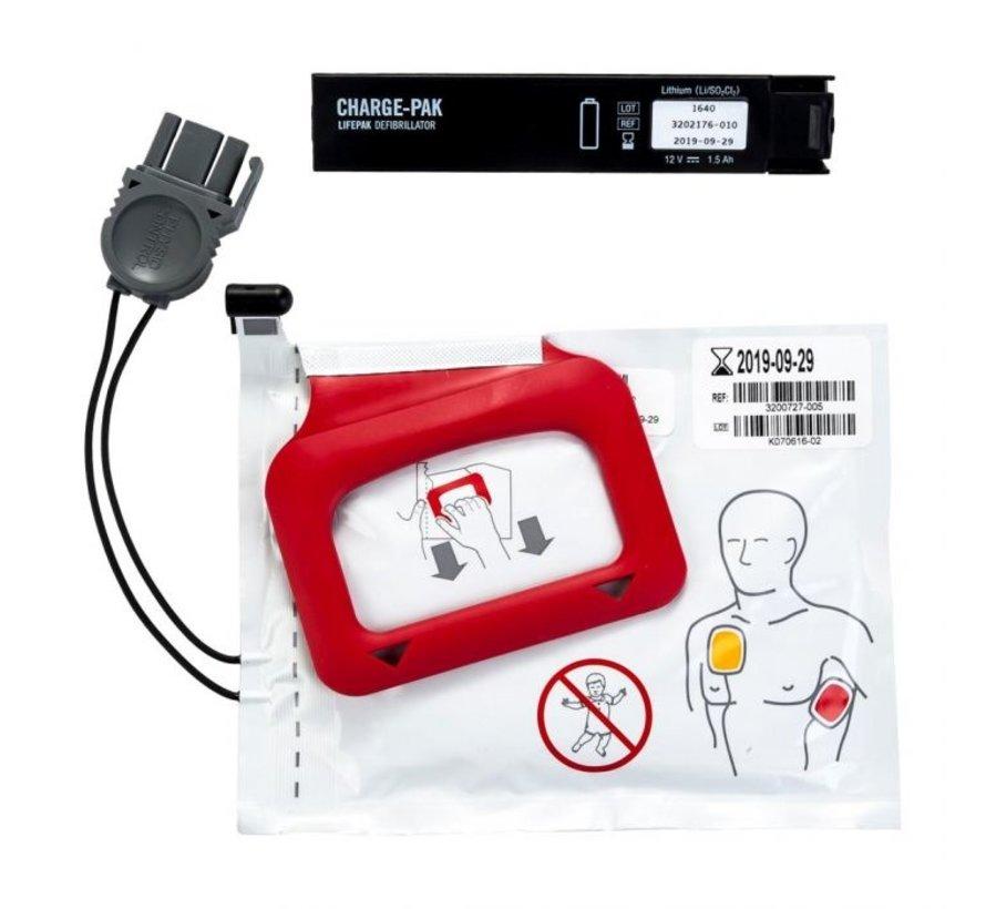 Physio Control Lifepak Chargepak & elektrode volwassene