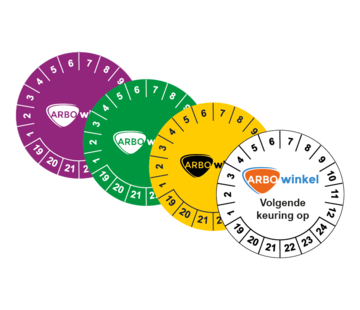 ARBO centrum Keuringssticker met logo