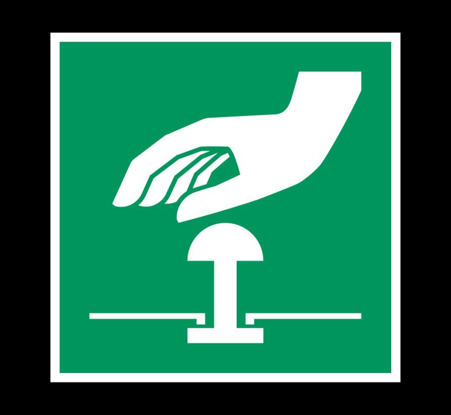 Noodstop pictogram