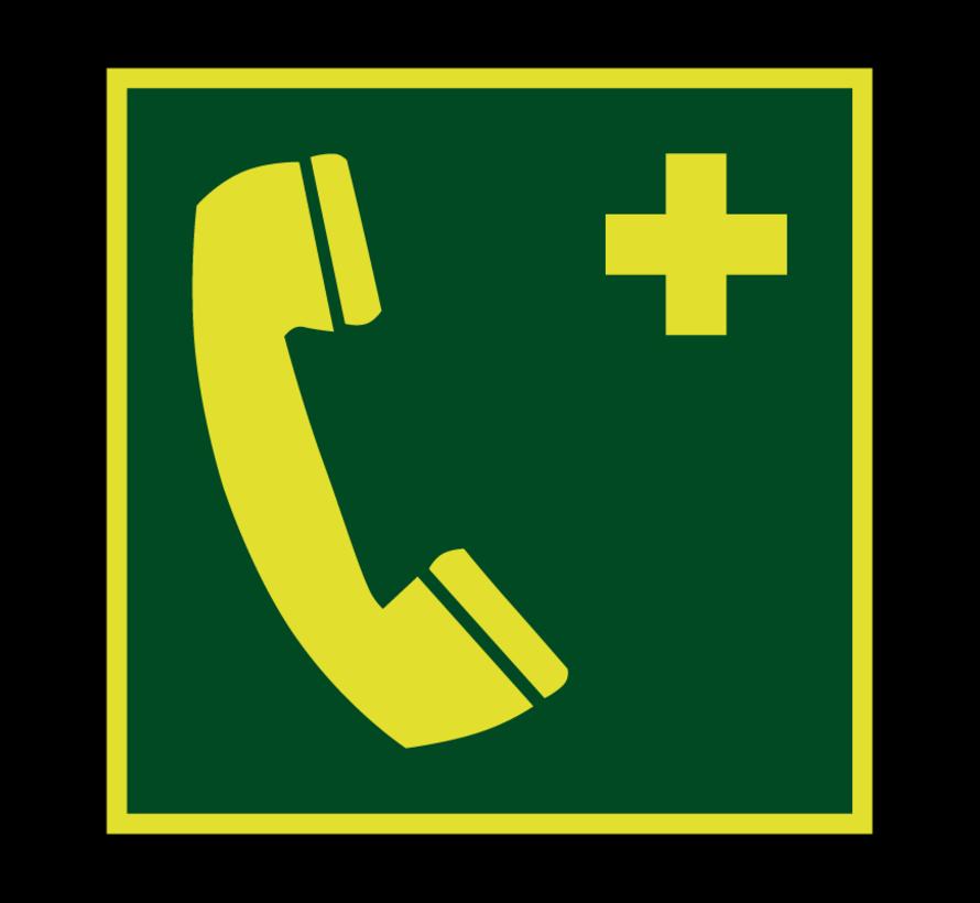 Telefoon voor noodgevallen lichtgevend pictogram
