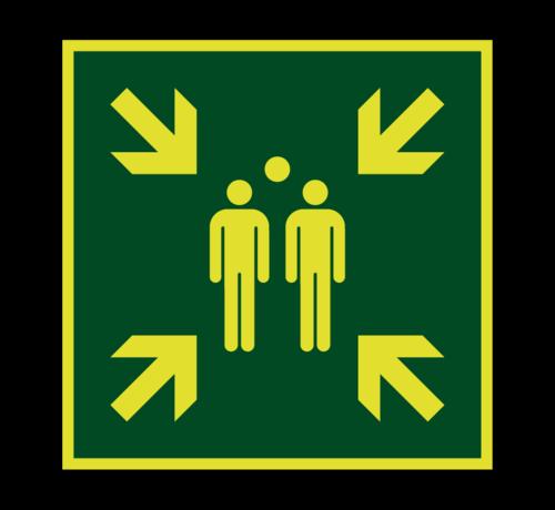 ARBO centrum Verzamelplaats lichtgevend pictogram