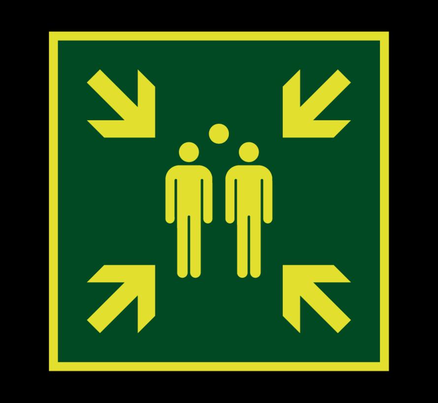 Verzamelplaats lichtgevend pictogram