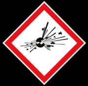 GHS 01 explosieve stoffen sticker