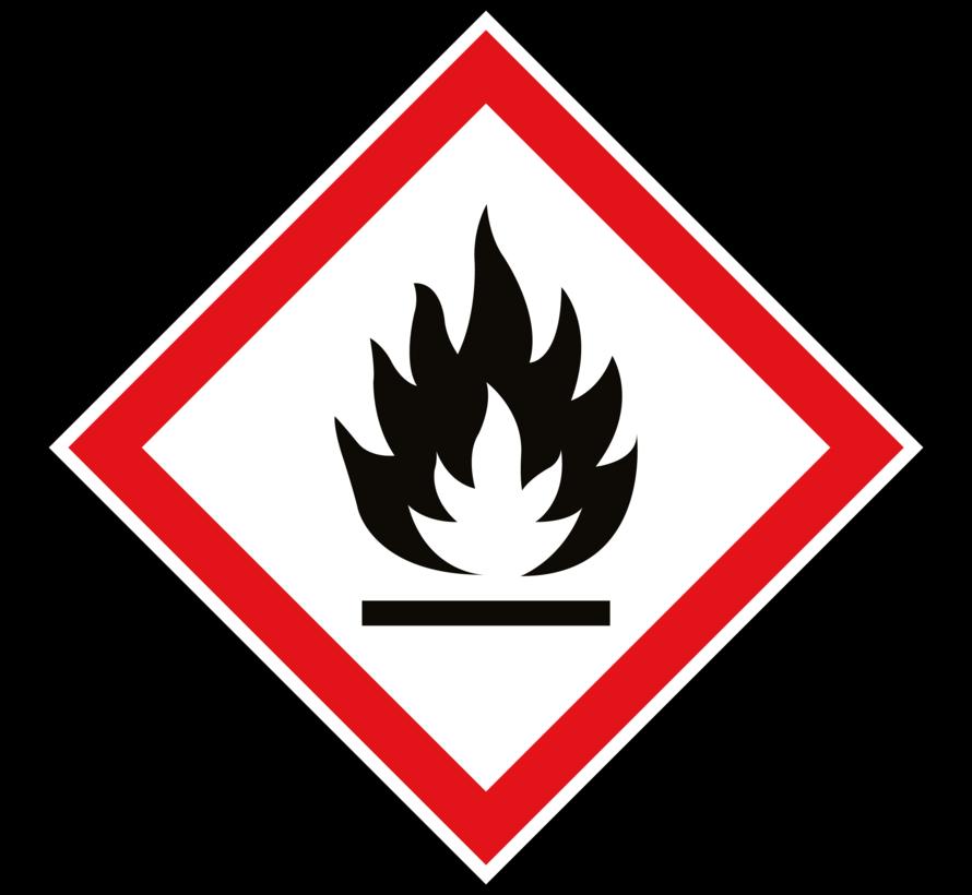 GHS 02 ontvlambare stoffen sticker