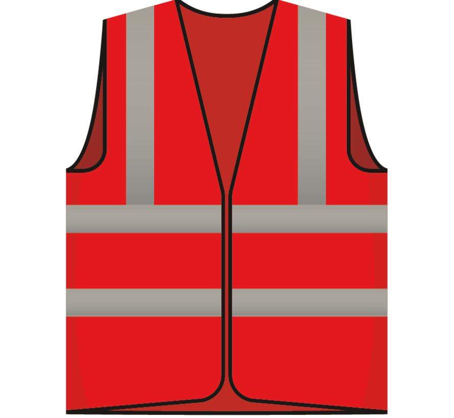 RWS veiligheidsvest beveiliger rood