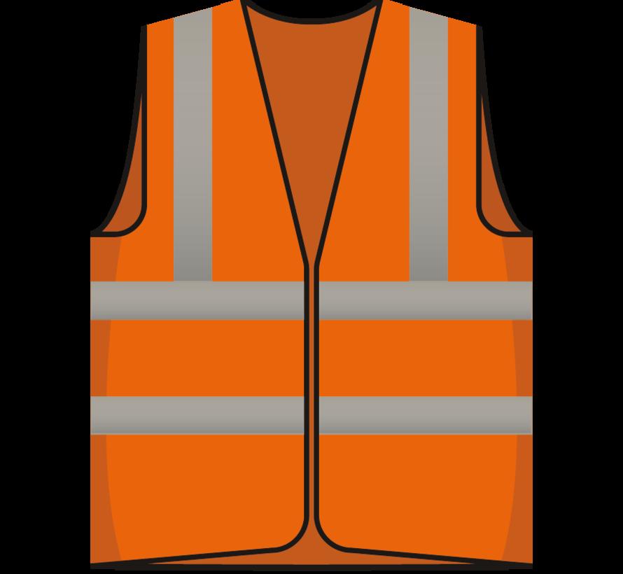 RWS veiligheidsvest bezoeker oranje