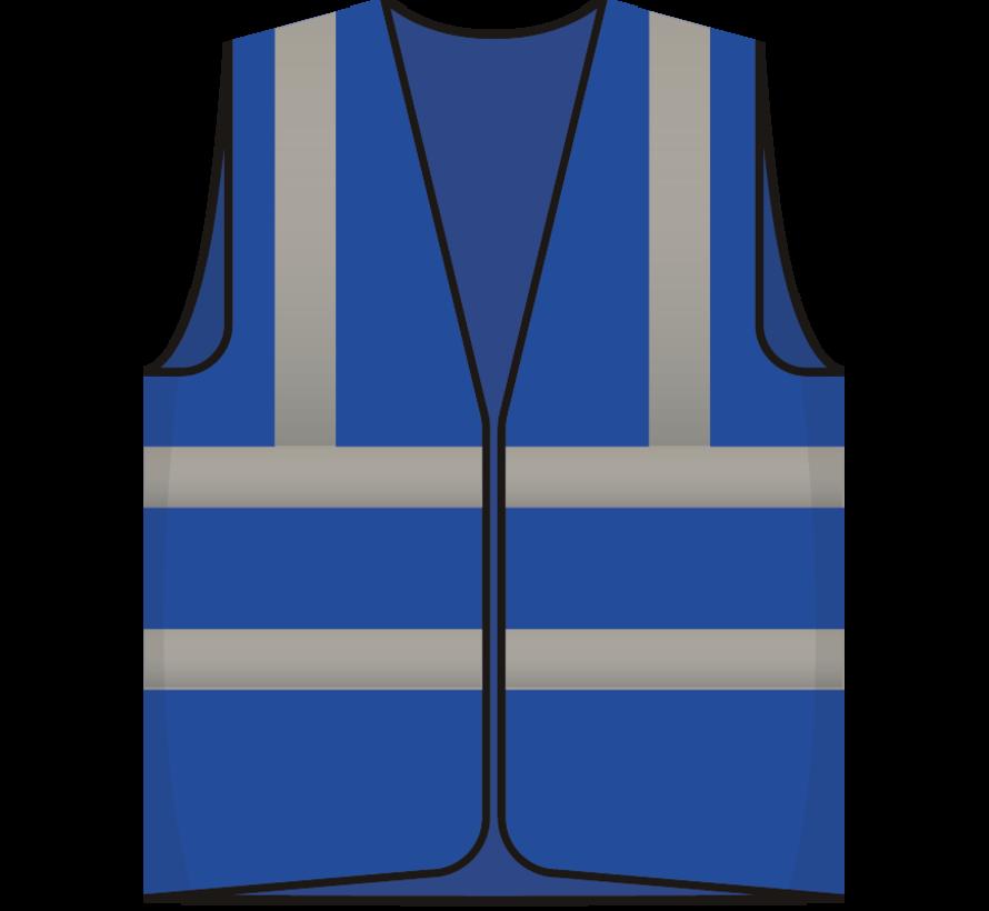 RWS veiligheidsvest bezoeker blauw