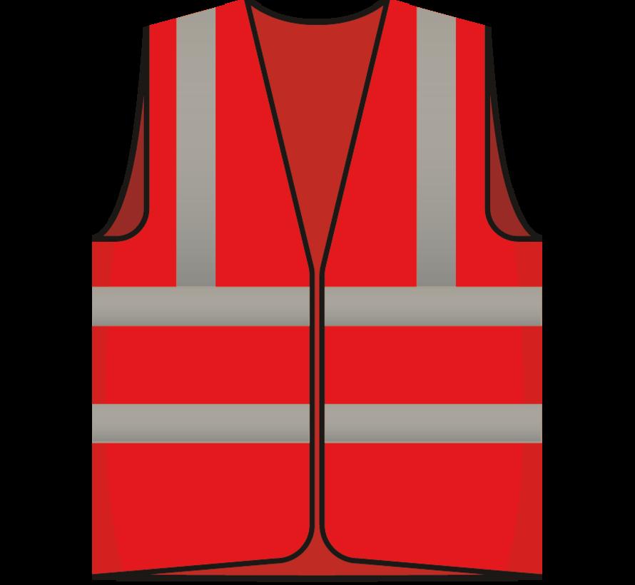 RWS veiligheidsvest bezoeker rood