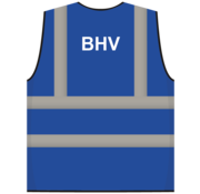 ARBO centrum RWS veiligheidsvest BHV blauw