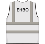 RWS veiligheidsvest EHBO wit
