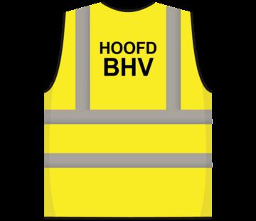 RWS veiligheidsvest hoofd BHV geel