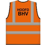 RWS veiligheidsvest hoofd BHV oranje