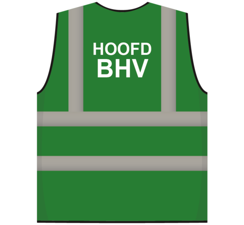 ARBO centrum RWS veiligheidsvest hoofd BHV groen