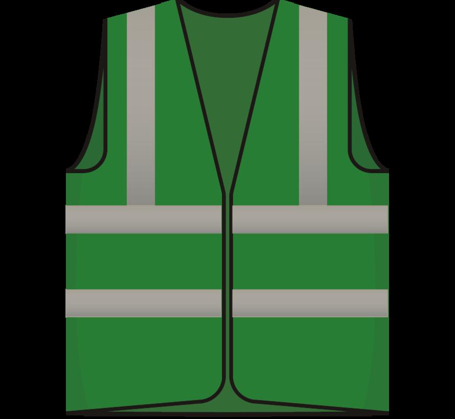 RWS veiligheidsvest hoofd BHV groen