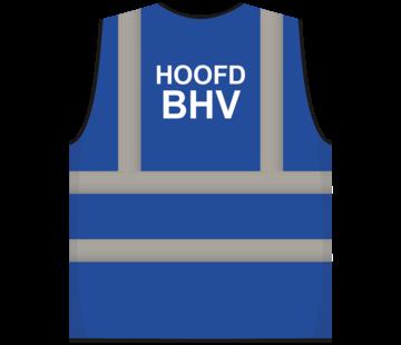 ARBO centrum RWS veiligheidsvest hoofd BHV blauw