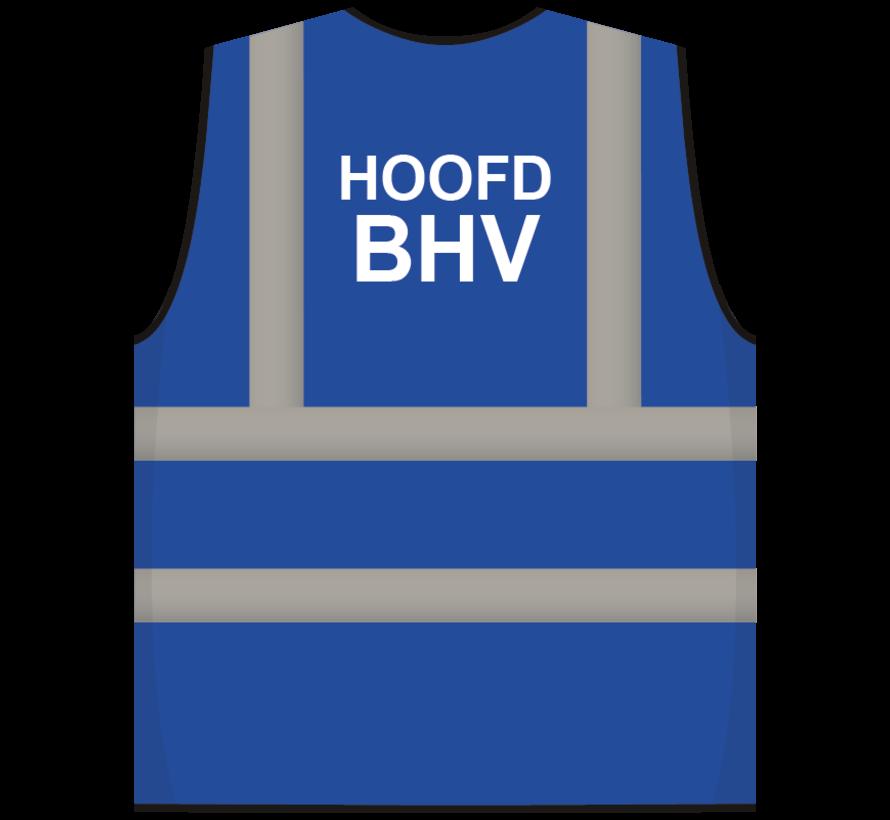 RWS veiligheidsvest hoofd BHV blauw