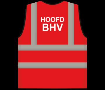 ARBO centrum RWS veiligheidsvest hoofd BHV rood