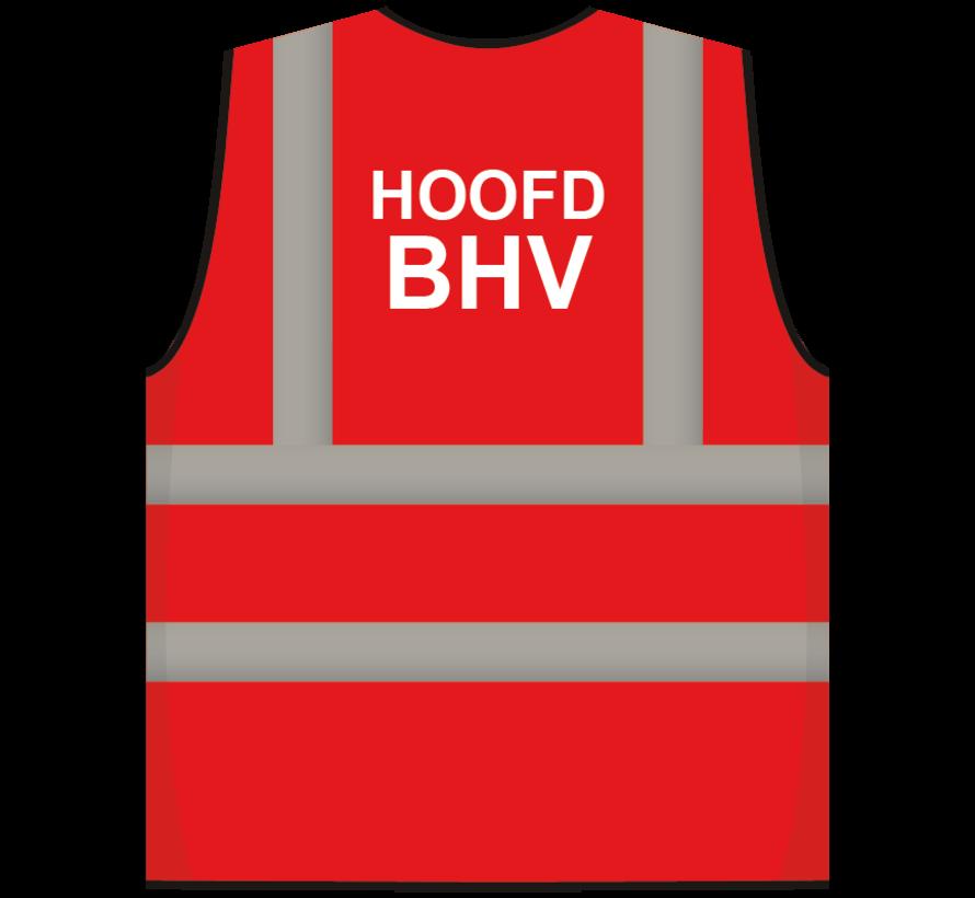RWS veiligheidsvest hoofd BHV rood