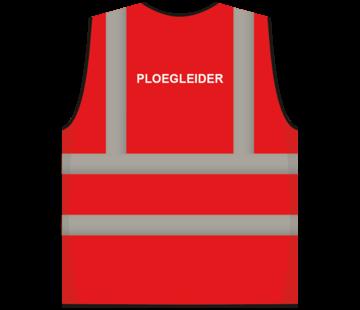 ARBO centrum RWS veiligheidsvest ploegleider rood