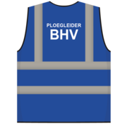 RWS veiligheidsvest ploegleider BHV blauw