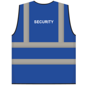 ARBO centrum RWS veiligheidsvest security blauw
