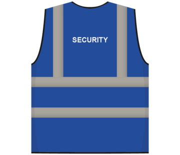 RWS veiligheidsvest security blauw