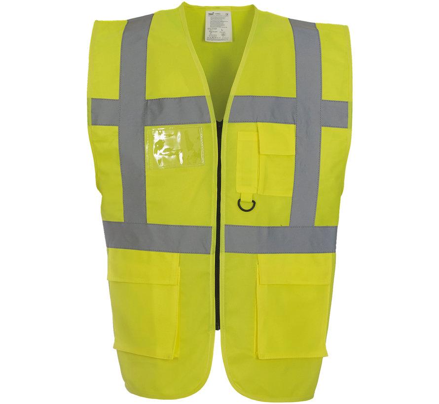 Veiligheidshesje met rits geel